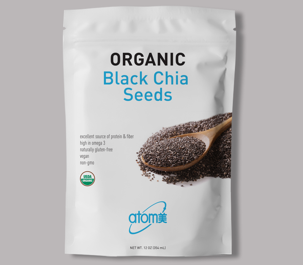 Back Chia Seeds - front view
